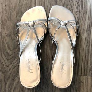 Vintage silver Jacqueline Ferrar heels